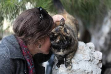 me and some cat in Andalusia