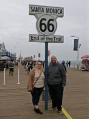 Us in California (our passion is travelling)