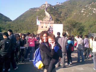 At the Great Wall of China when my son was four.