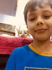 Marvin e Sucrilhos the cat
