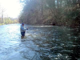 Surf and fly fishing.