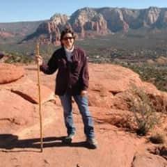 Linda hiking in Sedona, Arizona