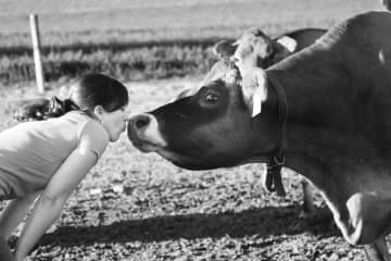Me and my cow, Cutie Patootie