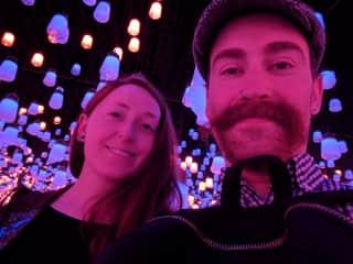 Exploring the interactive art gallery TeamLab Borderless in Tokyo