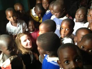 This is me on one of my 15 trips to a sister school I began in Tanzania.  We support scholarships for secondary school and I have a high school student living here in New York.