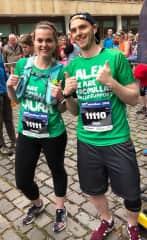 My brother and I ready to run the Edinburgh marathon