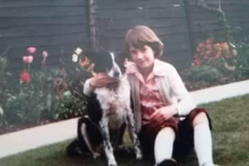Nicola aged 10 with Vicki
