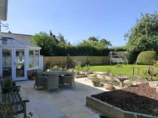 Terrace in back garden
