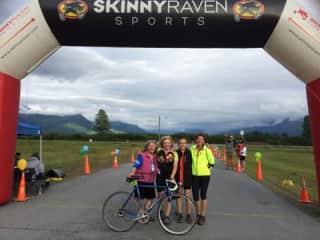 "My biking team the ""Spryriders""  at the Fireweed400 bike race in Alaska."