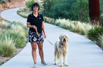 Deb and Suki take a walk.