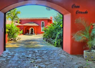 The entrance to our beautiful home on Volcan Mombacho in Nicaragua.  It's different living here than most people would suspect.