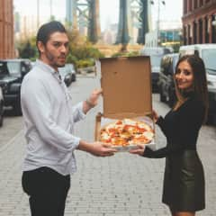 """""""We're not engaged, expecting, or even celebrating anything… we just like eachother and pizza."""""""