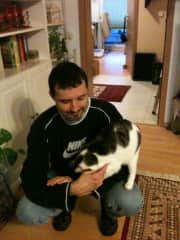 Andreas and his mum's cat
