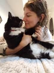 Catsitting Pepper for my previous landlord