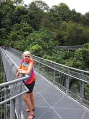 Pam enjoying a great walk in Singapore