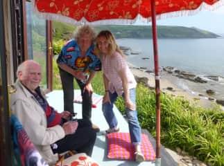 Tam, Simon & Tim (Simon's dad) in SE Cornwall