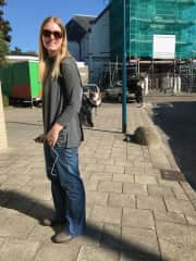 Me with a chihuahua on a walk :)
