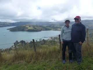Sherri & Gerry hiking in NZ