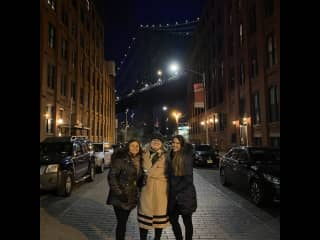 Brooklyn with friends.