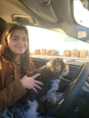 Collin's dog Teddy!