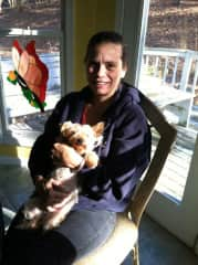 This is me and my baby Cinnamon.