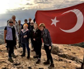 Out and About with the local walking group in Turkey
