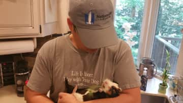 Ben w/ 1 of our guinea pigs