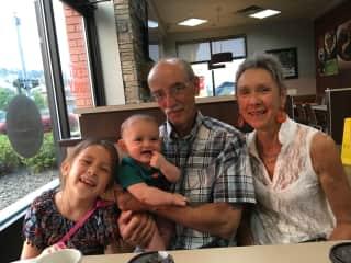 Visiting grandkids in Kelowna.