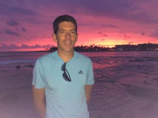 Me and beautiful sunset in Hawaii
