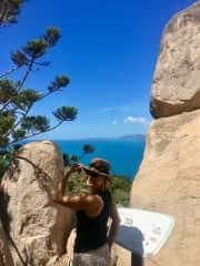 Andrea hiking