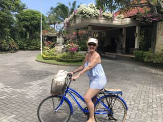 Riding my bike in Sanur , Bali