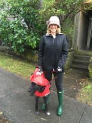 Rainy day walkers