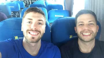 Victor and Fernando traveling around Mexico