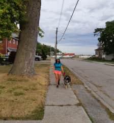 Walking with Farley