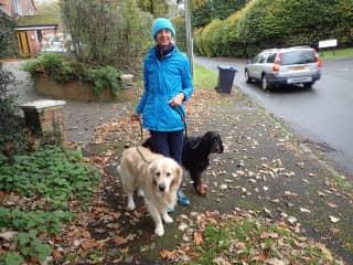 Walking the kids in Ramsbury, UK