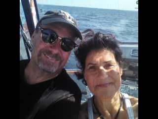 David and I on the high seas!
