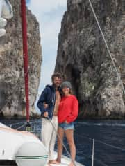 a week-long sailing trip in the pontine islands