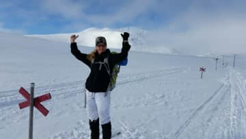 Catarina skiing in the Jemtland mountains
