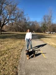 Gracie loving her walks