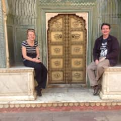 Both of us in India
