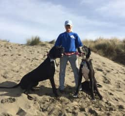 me and my two Great Danes (one deceased)