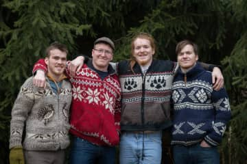 All four sons.