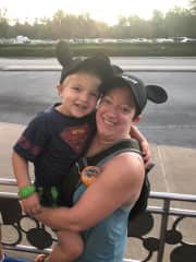 Me and my friend's son at Disney World!