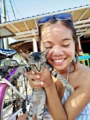 Falling in love with kitties in Indonesia!