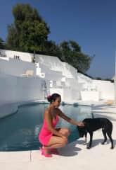 With my friends dog Nalo