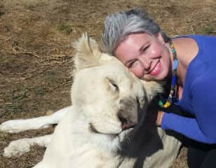 In South Africa, with this gorgeous Lioness!