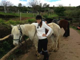 Horse ridding in Reunion Island