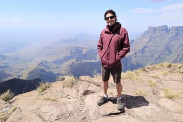 Daniel in the Drakensberg mountains, South Africa