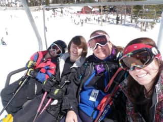 Skiing with my kids in Tahoe