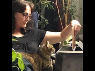 Kelly showing Kasher bird TV